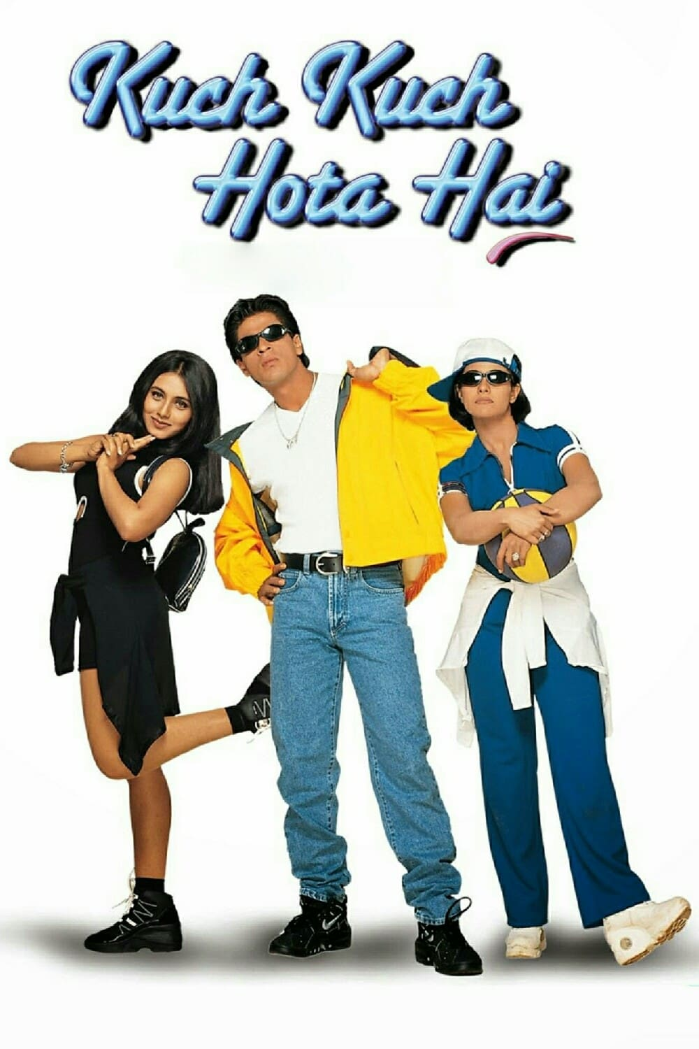 "Poster for the movie ""Kuch Kuch Hota Hai"""