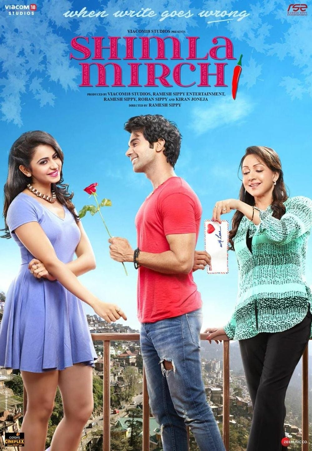 "Poster for the movie ""Shimla Mirchi"""