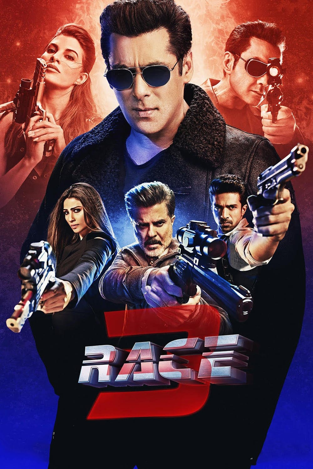 """Poster for the movie """"Race 3"""""""