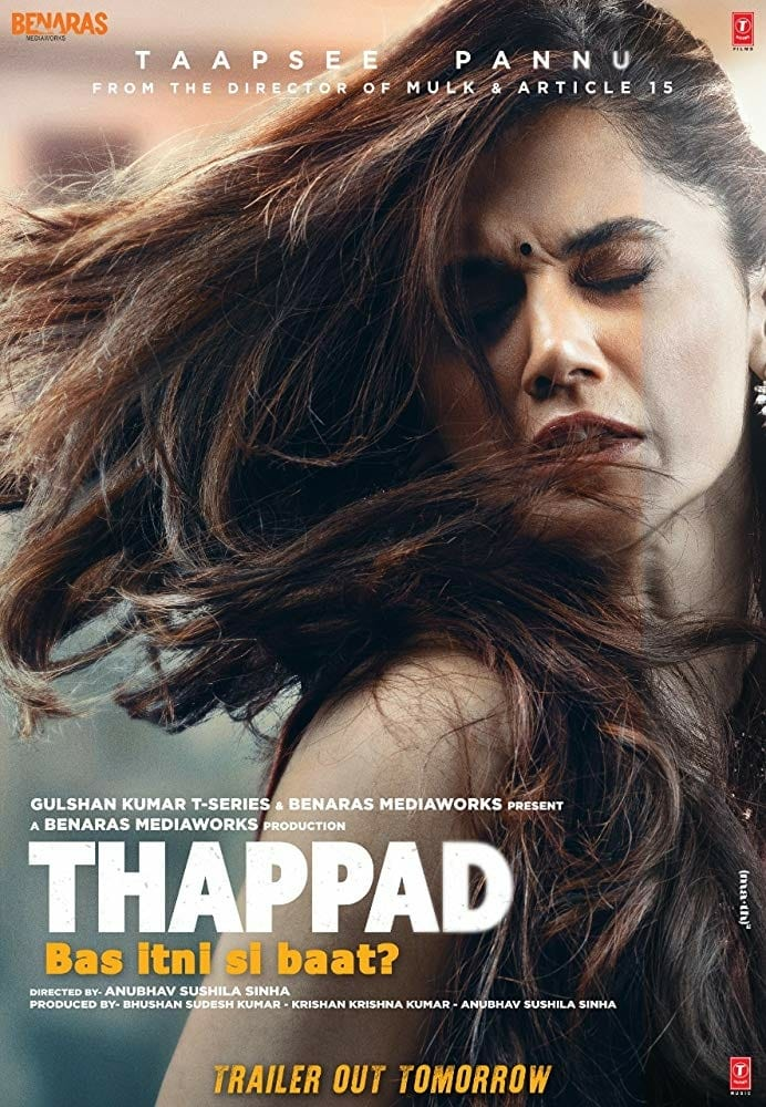 "Poster for the movie ""Thappad"""