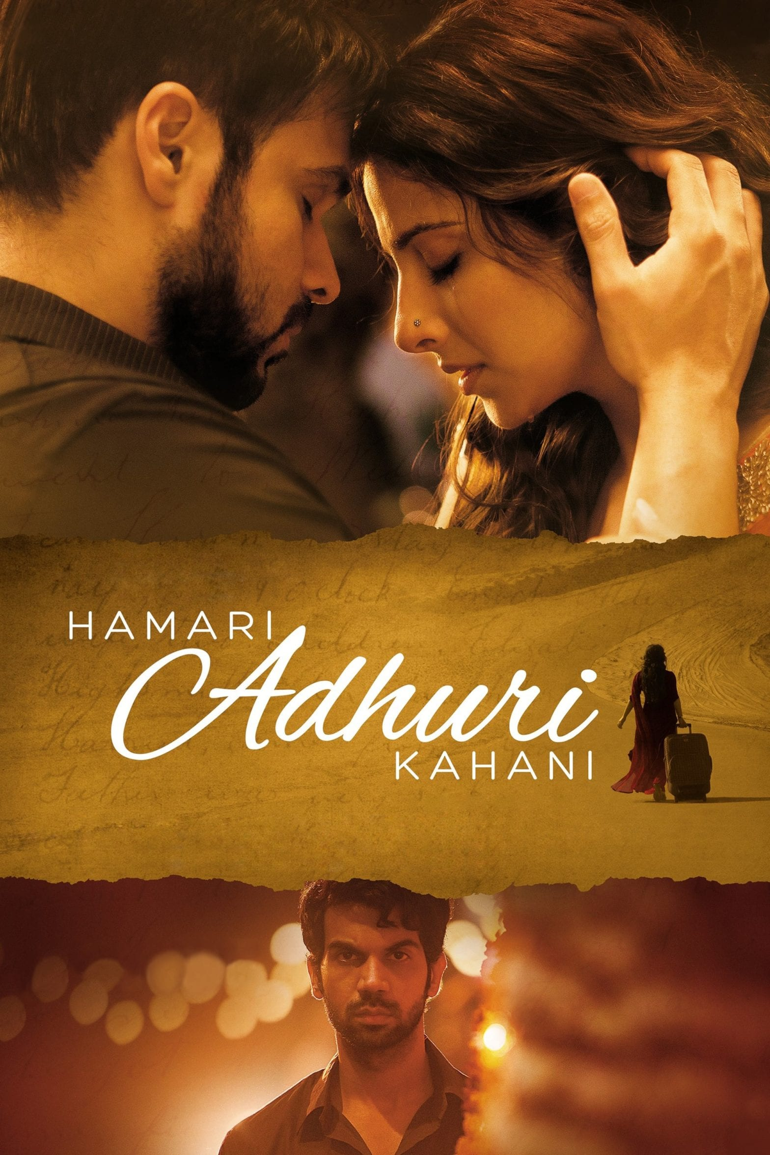 "Poster for the movie ""Hamari Adhuri Kahani"""