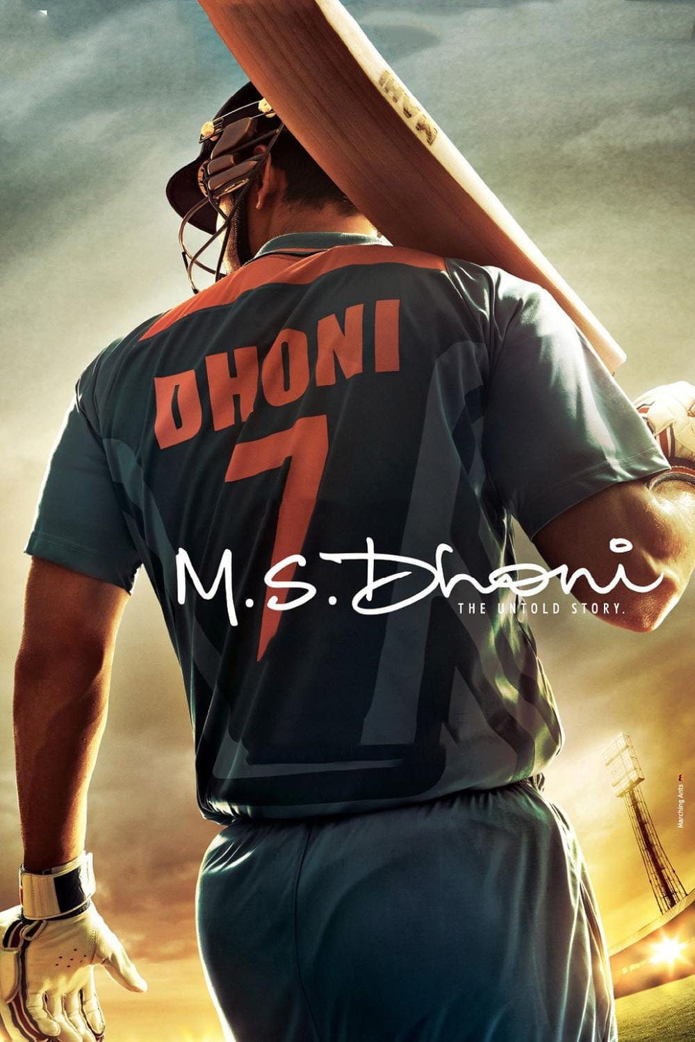 "Poster for the movie ""M.S. Dhoni: The Untold Story"""