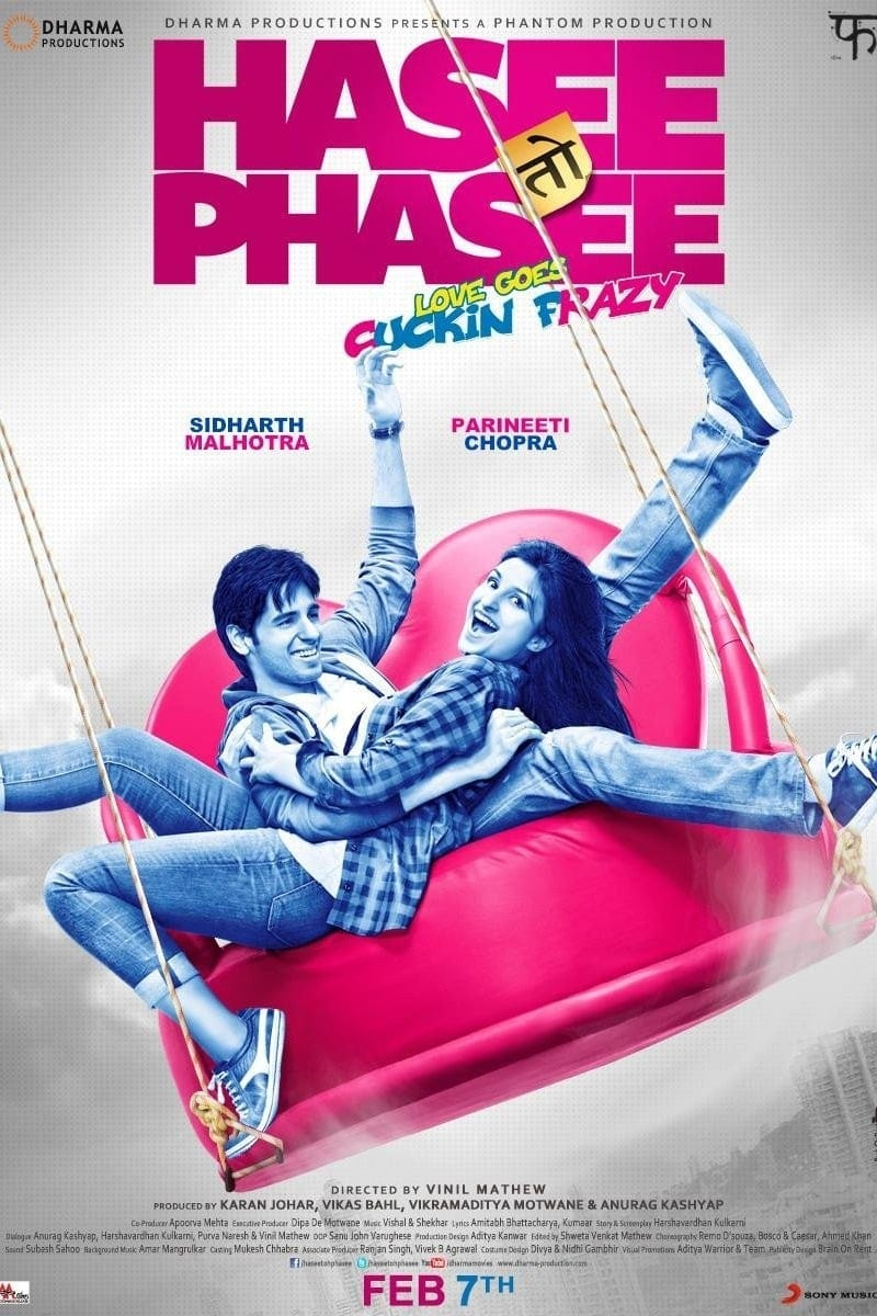 """Poster for the movie """"Hasee Toh Phasee"""""""
