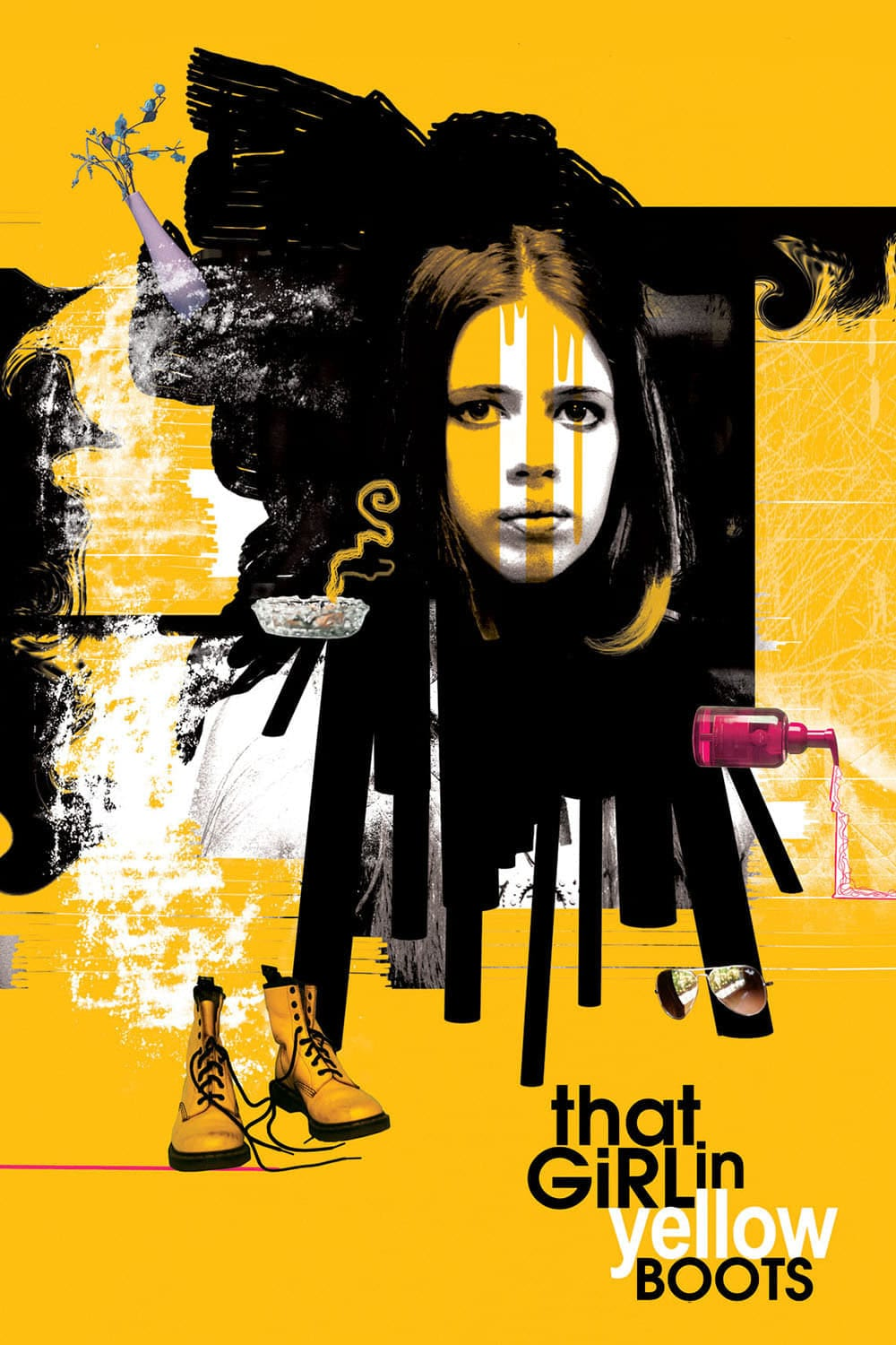 "Poster for the movie ""That Girl in Yellow Boots"""