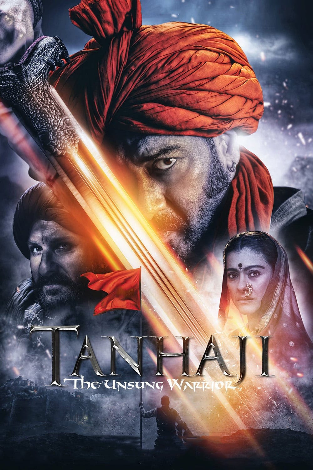 "Poster for the movie ""Tanhaji: The Unsung Warrior"""