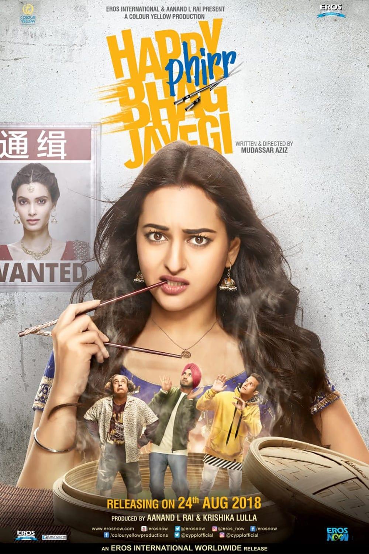 "Poster for the movie ""Happy Phirr Bhag Jayegi"""