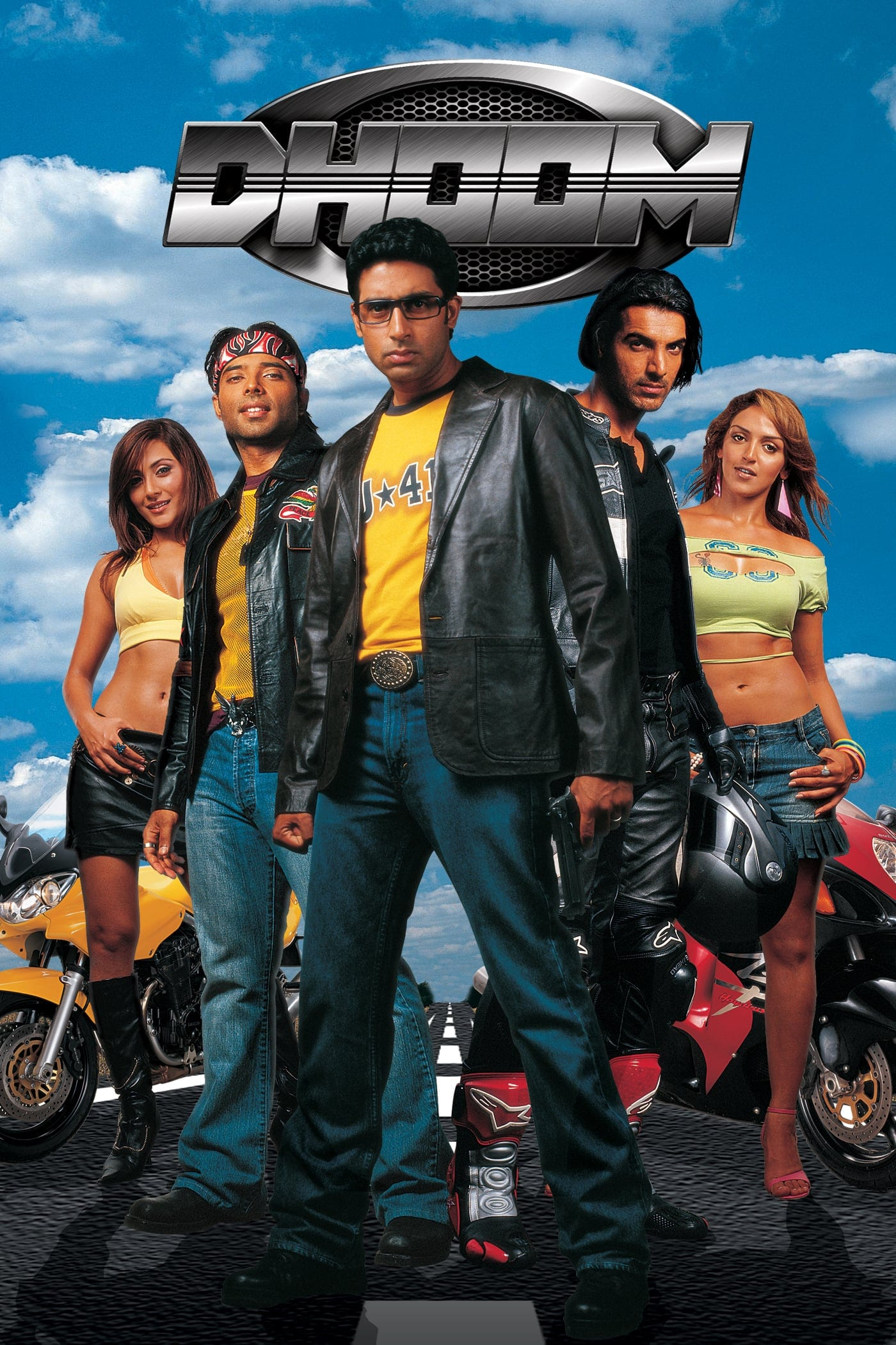 """Poster for the movie """"Dhoom"""""""