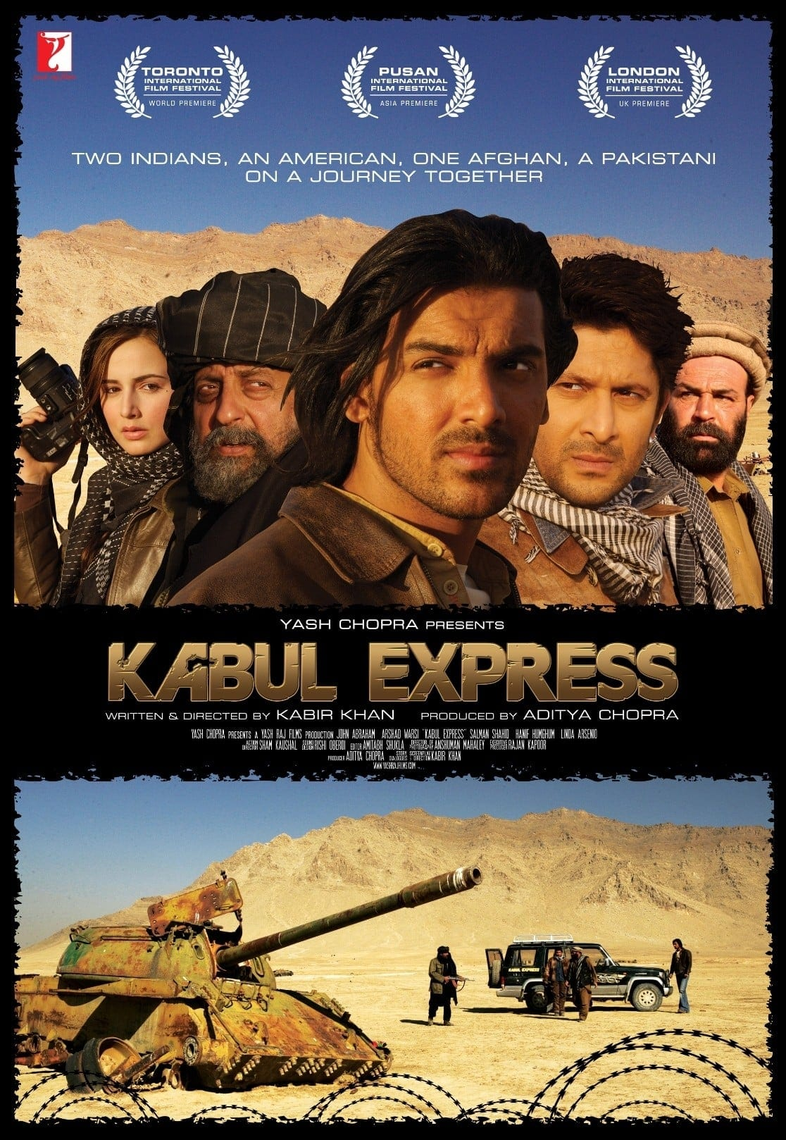 """Poster for the movie """"Kabul Express"""""""