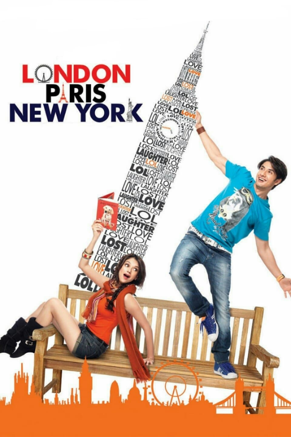 "Poster for the movie ""London, Paris, New York"""