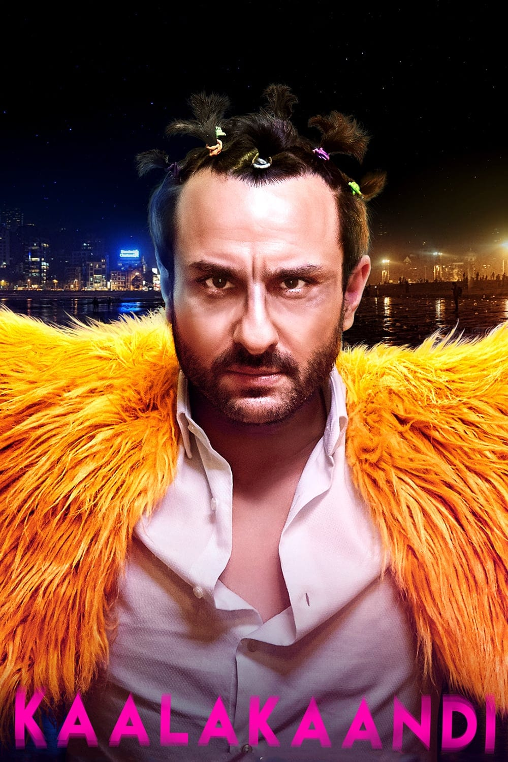 "Poster for the movie ""Kaalakaandi"""