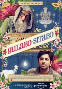 """Poster for the movie """"Gulabo Sitabo"""""""