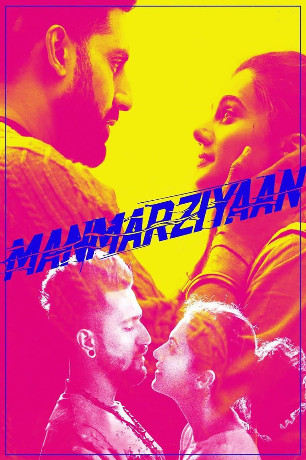 "Poster for the movie ""Manmarziyaan"""