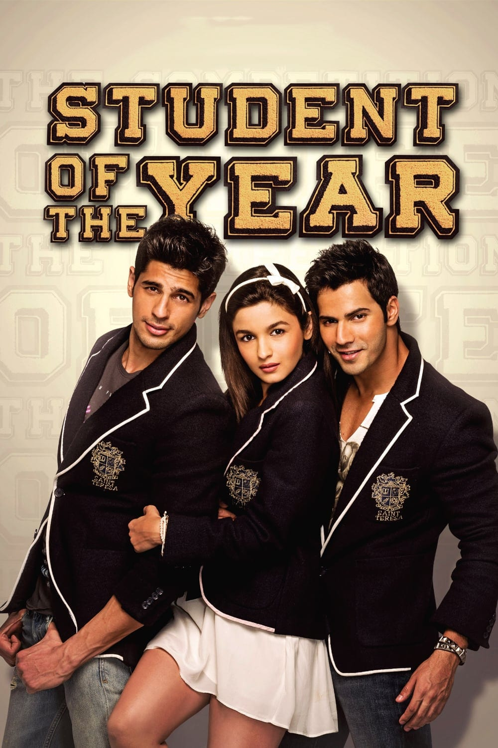 "Poster for the movie ""Student of the Year"""