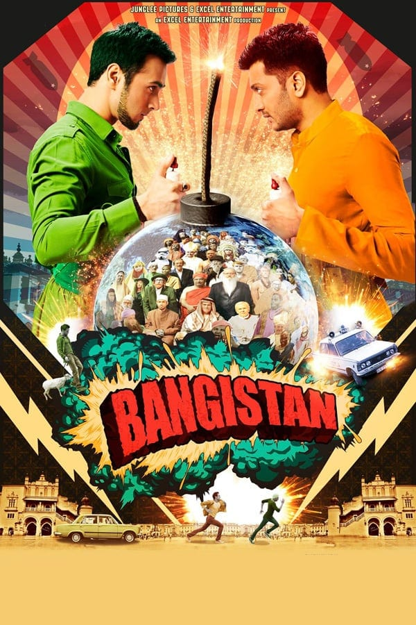 """Poster for the movie """"Bangistan"""""""