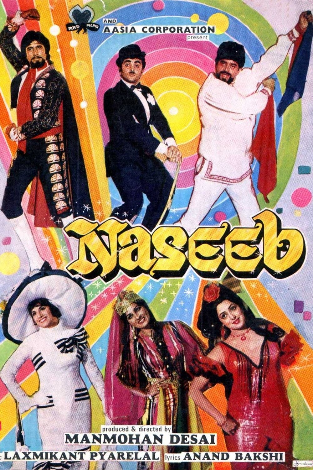 "Poster for the movie ""Naseeb"""