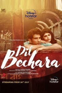 "Poster for the movie ""Dil Bechara"""