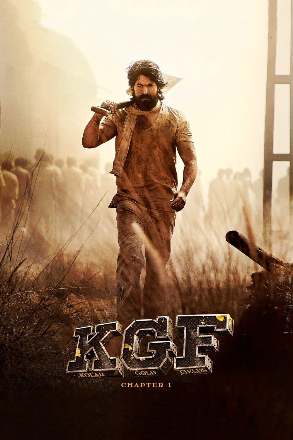 "Poster for the movie ""K.G.F: Chapter 1"""