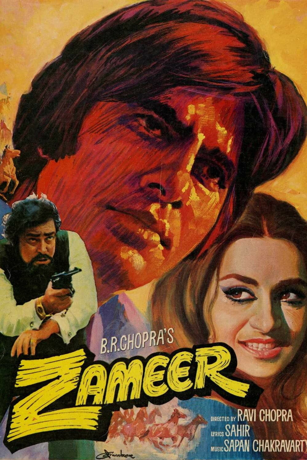 "Poster for the movie ""Zameer"""