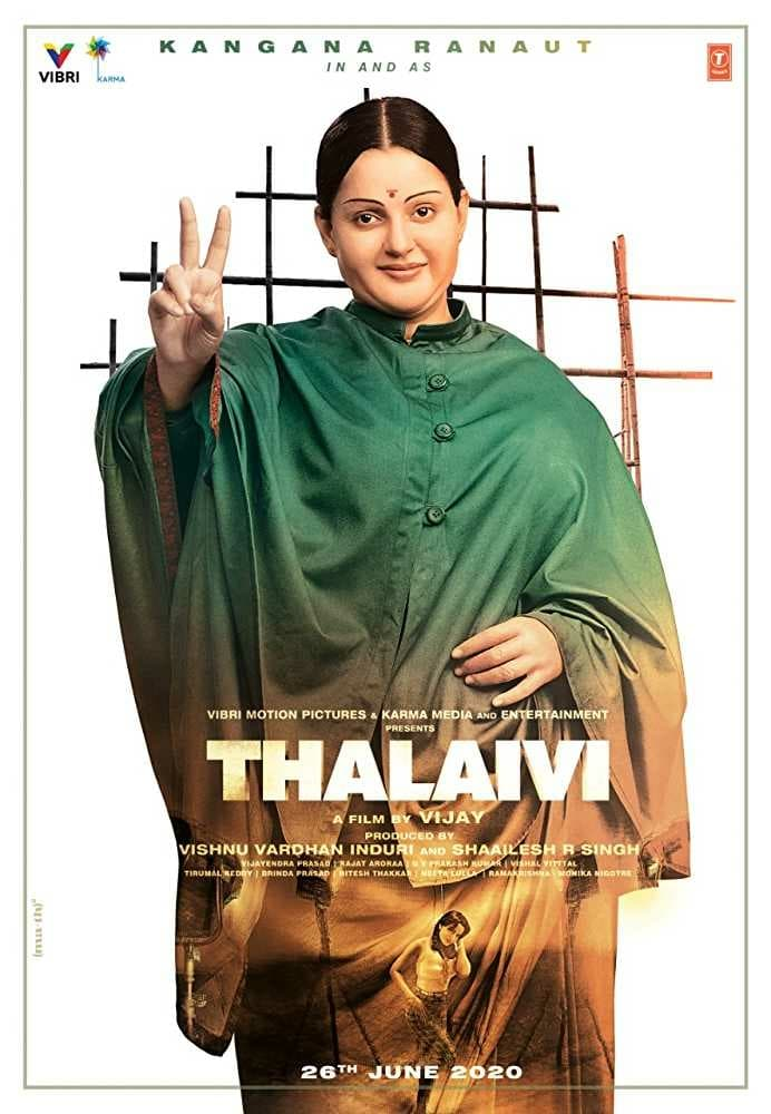 "Poster for the movie ""Thalaivi"""