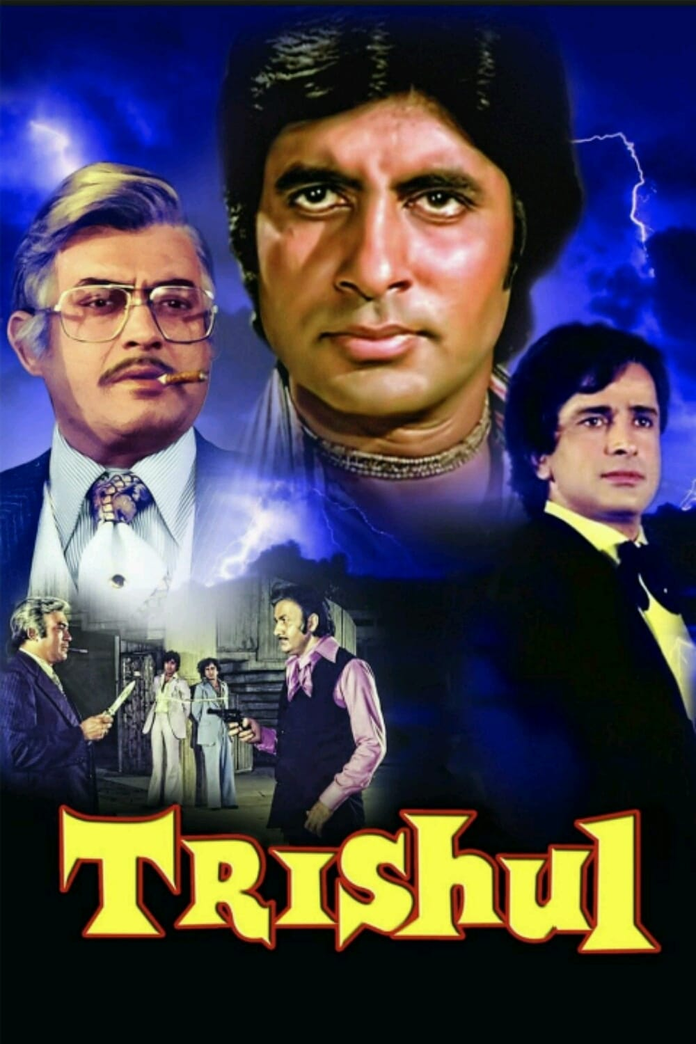 "Poster for the movie ""Trishul"""