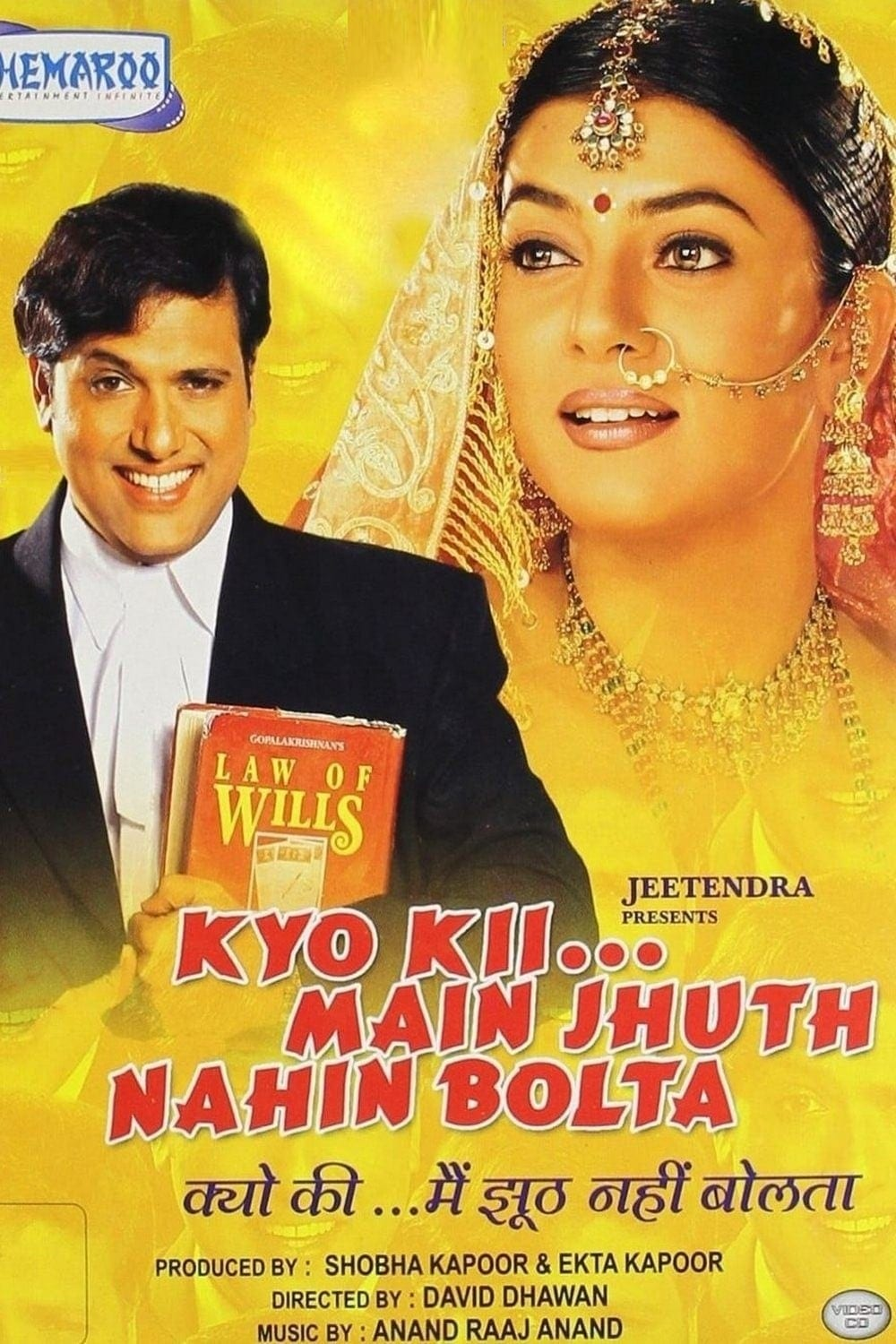 "Poster for the movie ""Kyo Kii... Main Jhuth Nahin Bolta"""