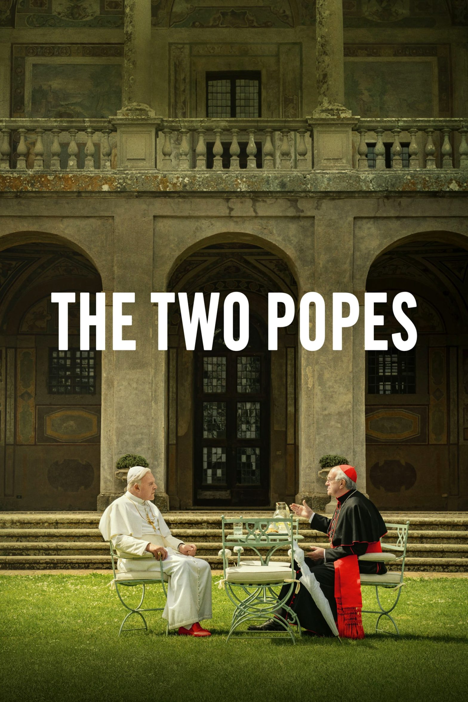 "Poster for the movie ""The Two Popes"""