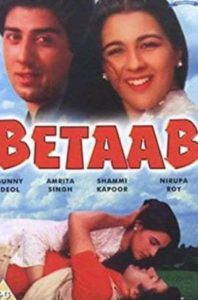 """Poster for the movie """"Betaab"""""""