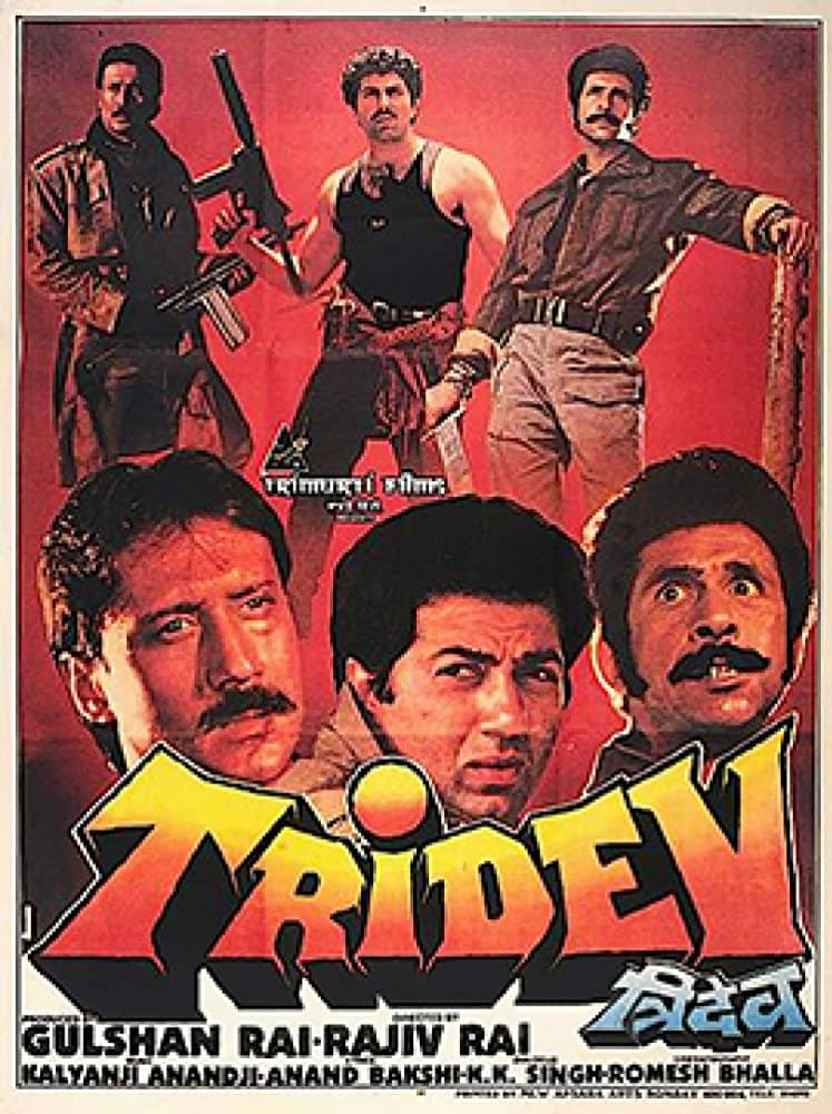 "Poster for the movie ""Tridev"""
