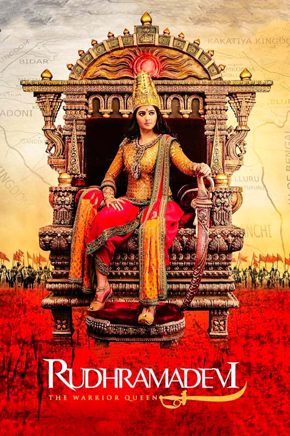 "Poster for the movie ""Rudhramadevi"""