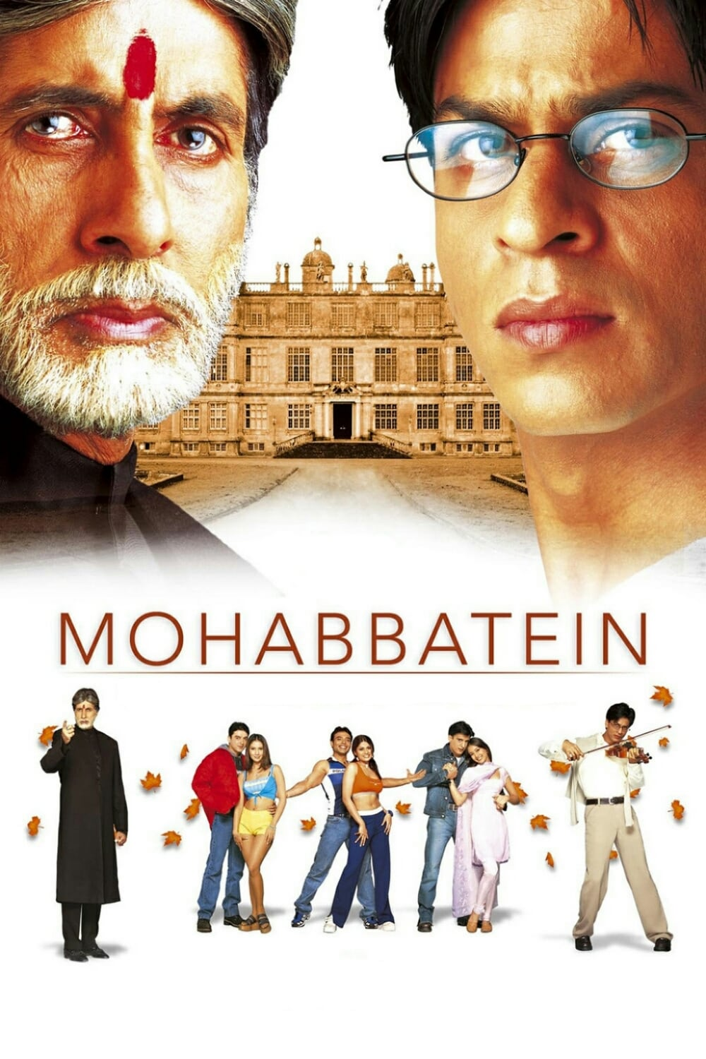 "Poster for the movie ""Mohabbatein"""
