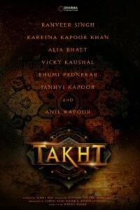 "Poster for the movie ""Takht"""